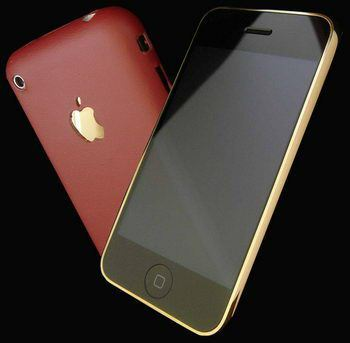 Iphone gold/leather - Apple